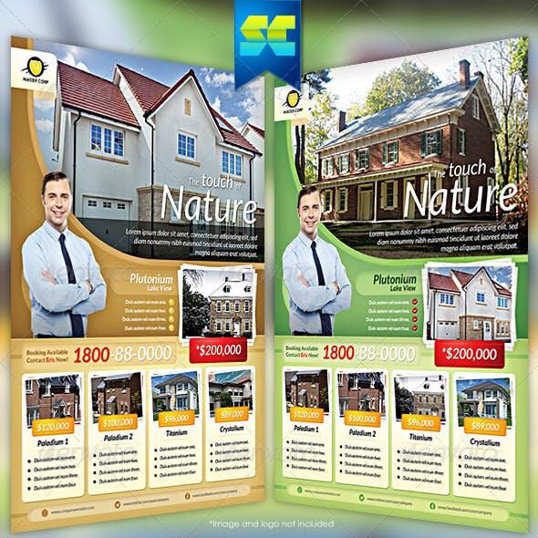 Modern real estate flyer / magazine ads