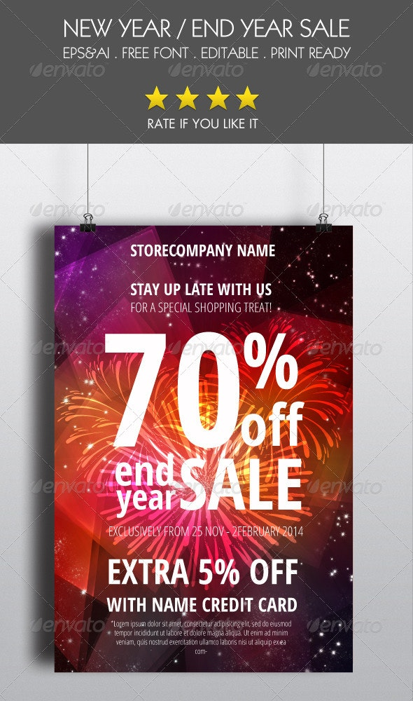 End Year Sale Flyer - Events Flyers