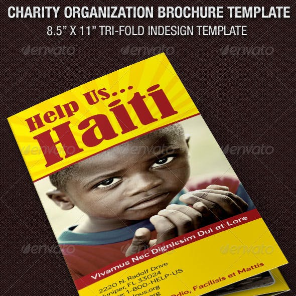 Charity Organization Brochure Template