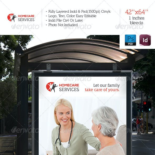 Home Care Services Banner Template