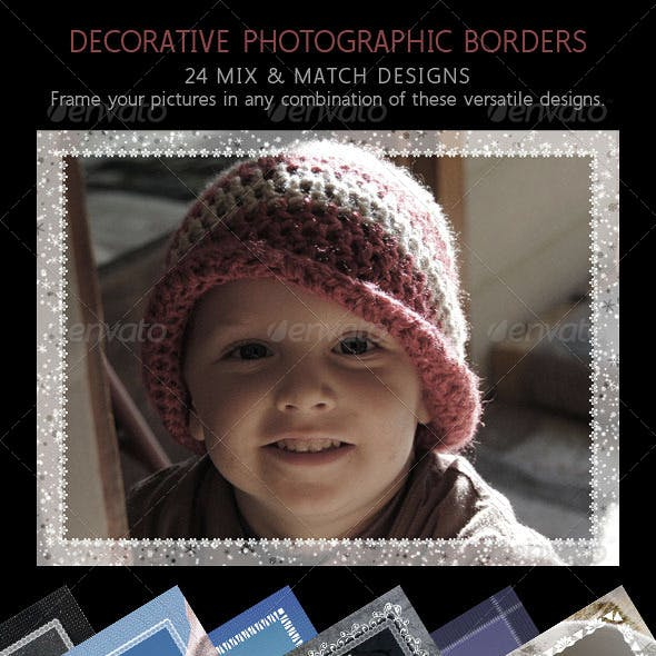 Photographic Decorative Frames Set