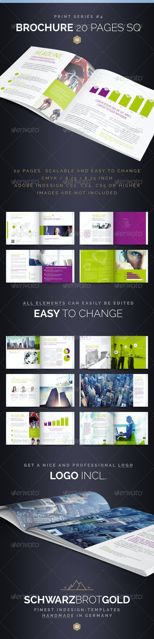 Brochure Square 20 Pages Series 4 - Informational Brochures