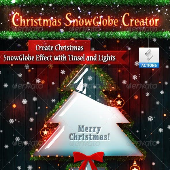 Christmas Snow Globe Photoshop Creator