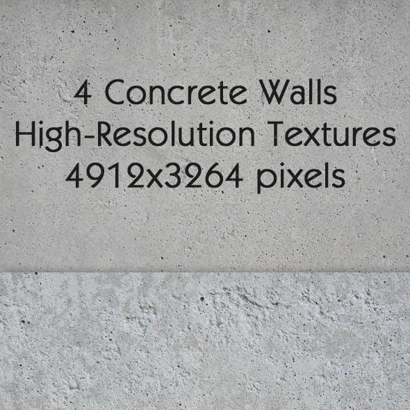 4 Concrete Walls Textures