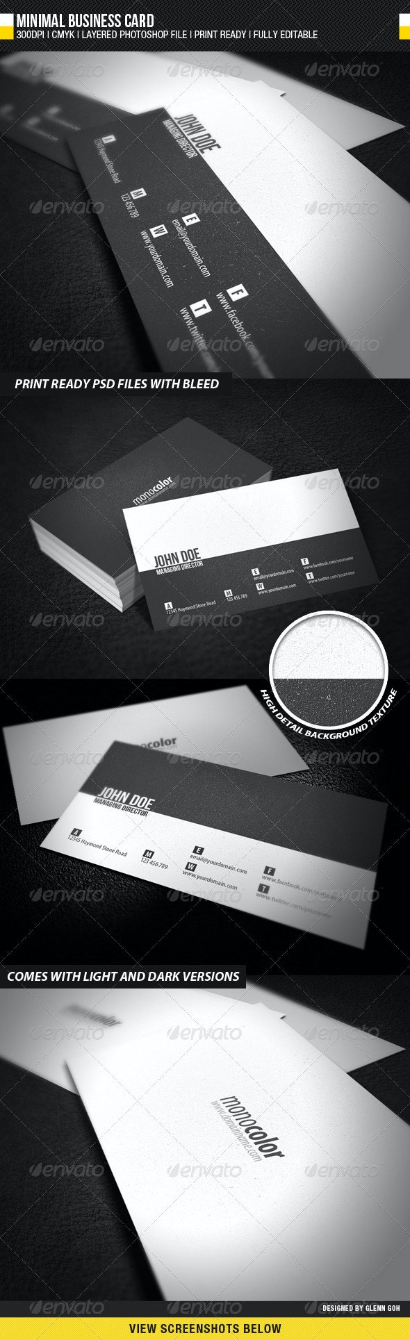 Minimal Business Card - Corporate Business Cards