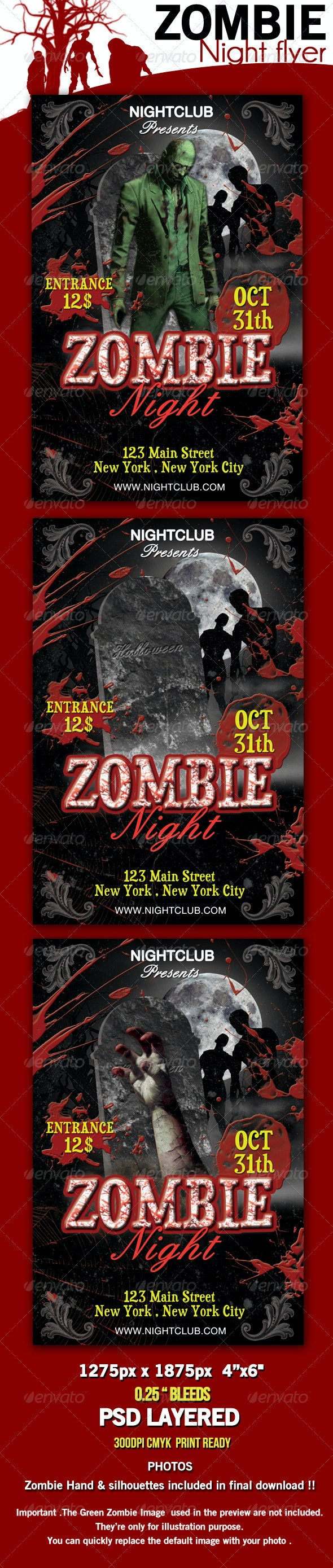 Zombie Night Flyer - Clubs & Parties Events