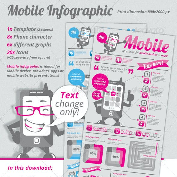 Mobile Infographic Template