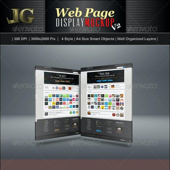 Web Page Display Mockup V2