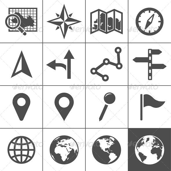 Cartography and Topography Icons