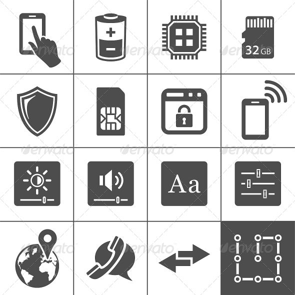 Mobile Device Settings Icons - Media Icons