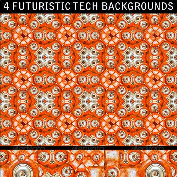 4 Futuristic Tech Backgrounds Patterns