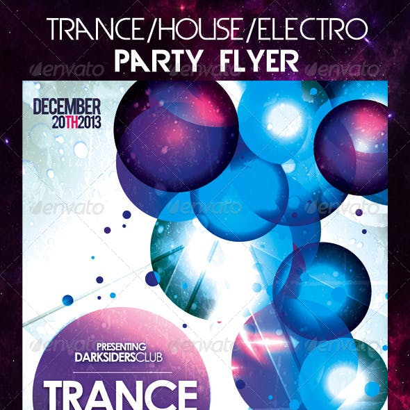 Trance/House/Electro Party Flyer