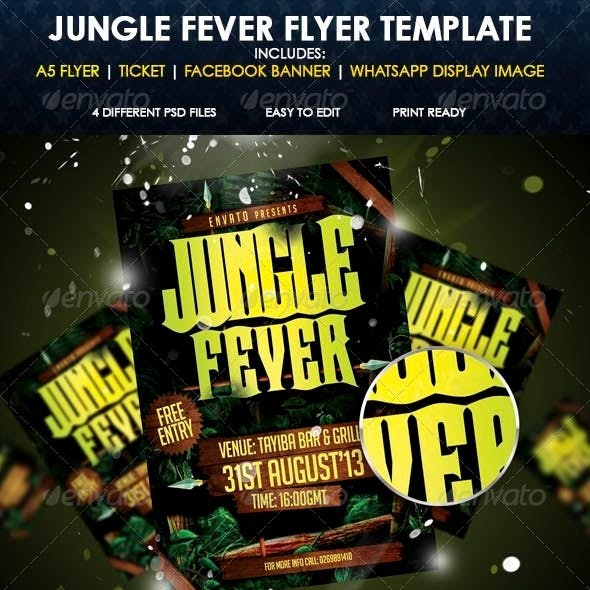 Jungle Fever Flyer Templates