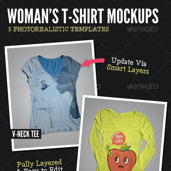 Ladies T-Shirt Mock-Ups