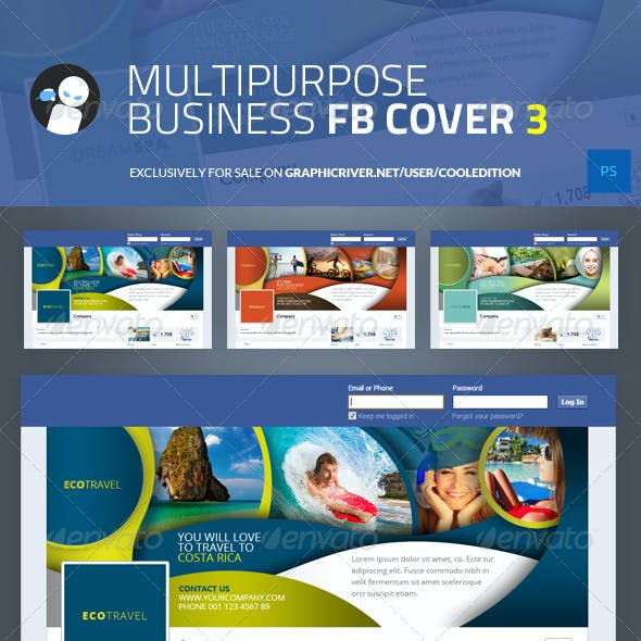 Multipurpose Business Facebook Cover 3