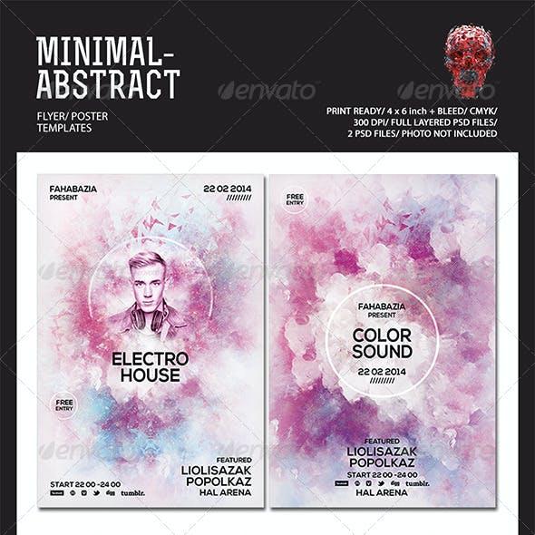 Minimal Abstract Flyer Templates