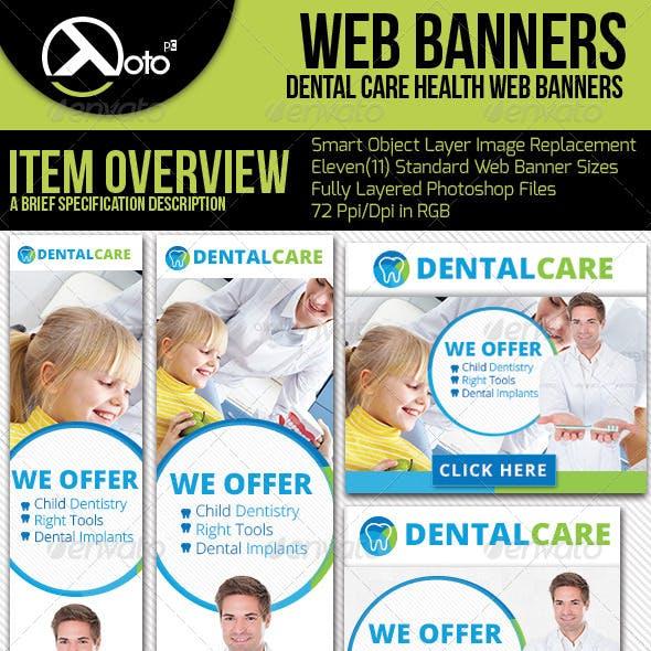 Medical Dental Health Web Banners