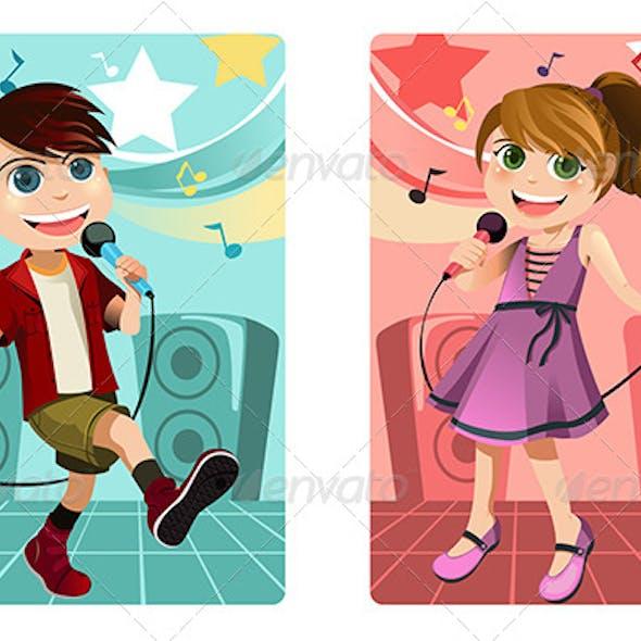 Kids Singing Karaoke