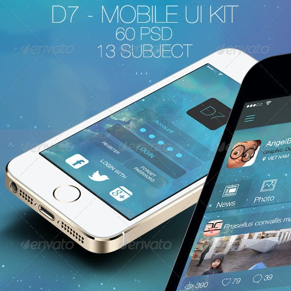 D7 - Mobile UI Kit