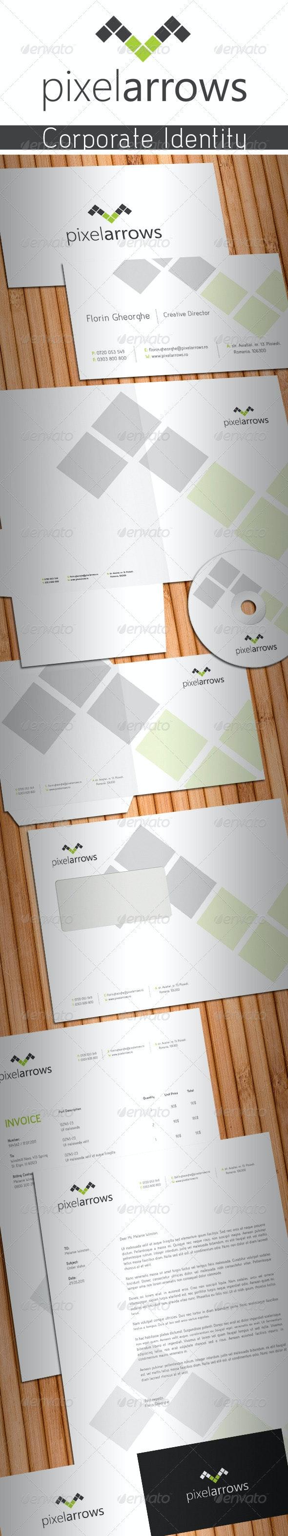 Pixel Arrows Stationery - Stationery Print Templates