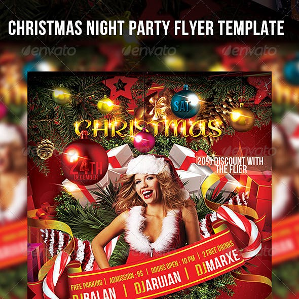 Christmas Night Party Flyer Template