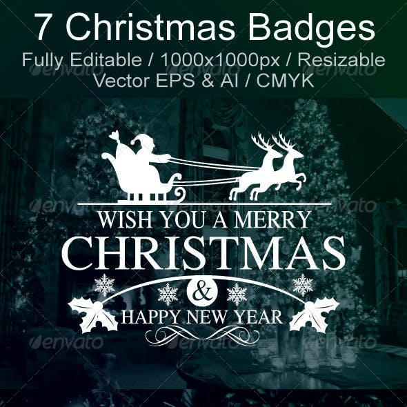 Christmas & New Year Badges