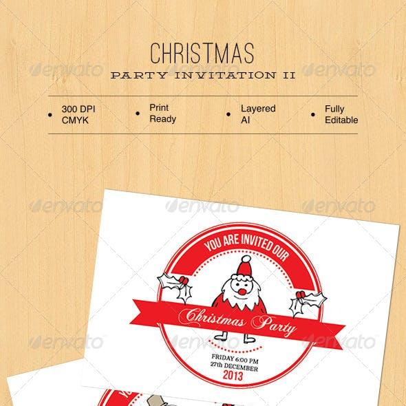 Christmas Party Invitation II