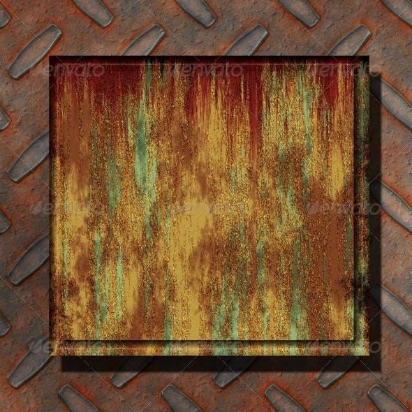 Rust metal plates