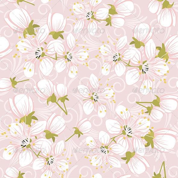 Cherry Blossoms  - Patterns Decorative