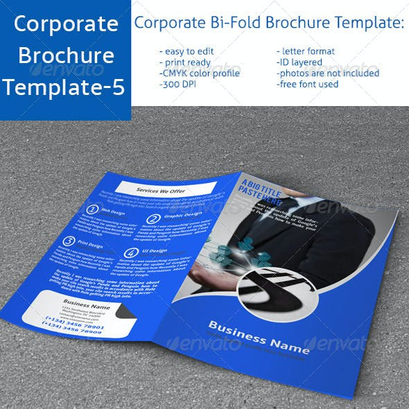 Corporate Bi-Fold Brochure Template-5