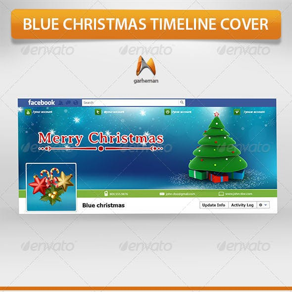 Blue Christmas Timeline Cover