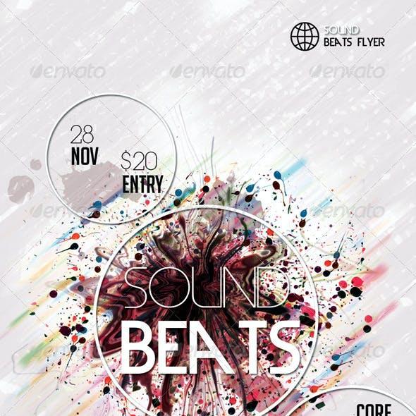 Sound Beats5  Futuristic Flyer