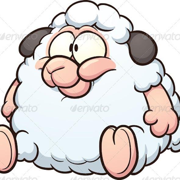 Fat Cartoon Sheep