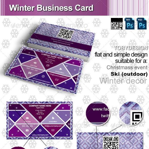 Winter Business Card