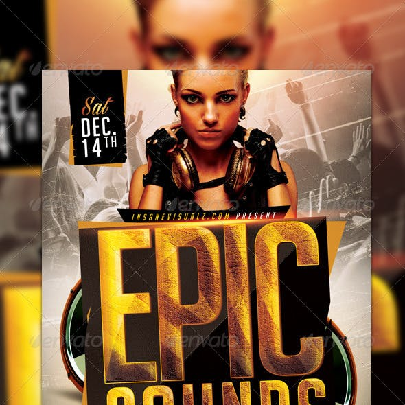 Epic Sounds PSD Flyer Template