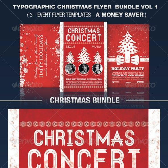 Typographic Christmas Flyer Bundle Vol 1.