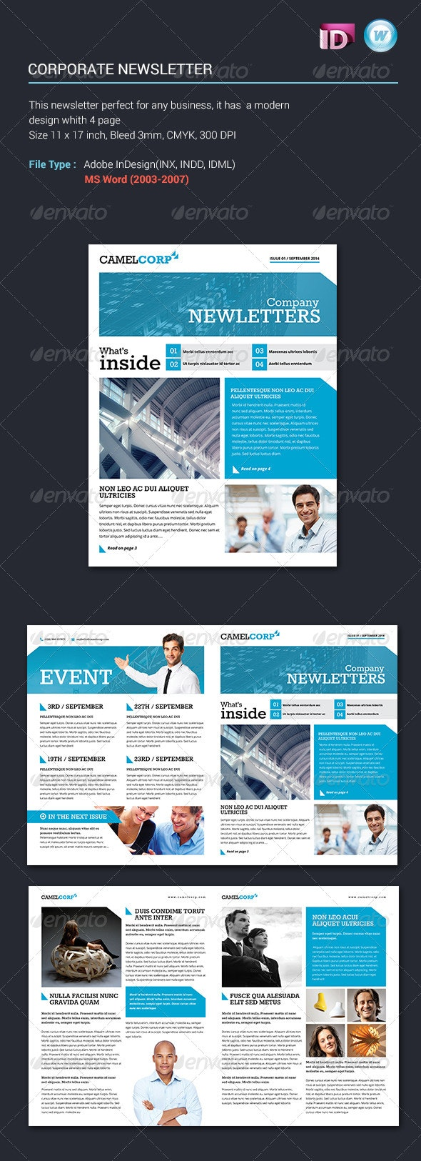Corporate Newsletter Vol1 - Newsletters Print Templates