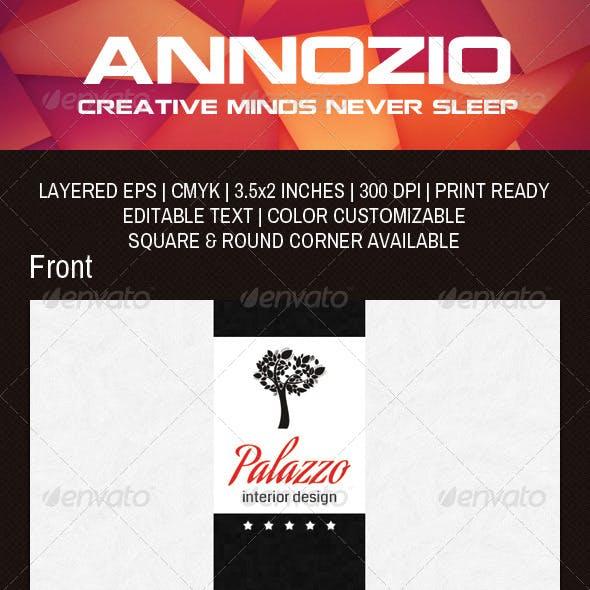 Interior Design Business Card AN0038
