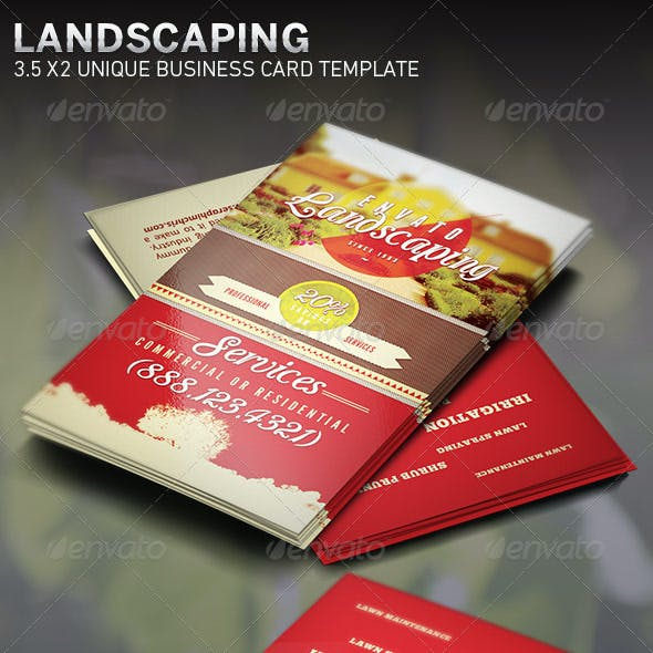 Landscaping: Business Card Template