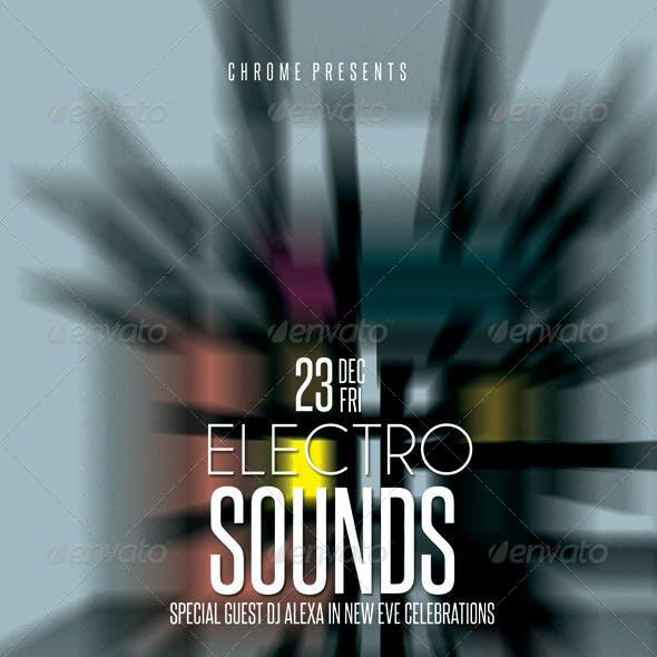 Electro Sounds Futuristic Flyer 2