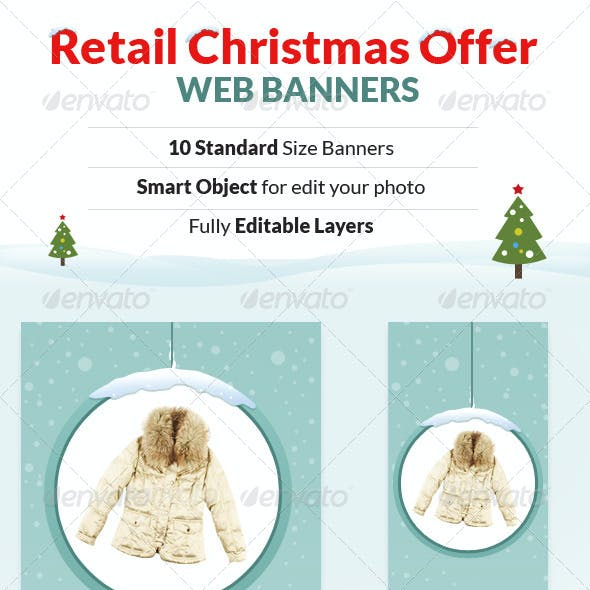 Retail Christmas Offer Web Banners