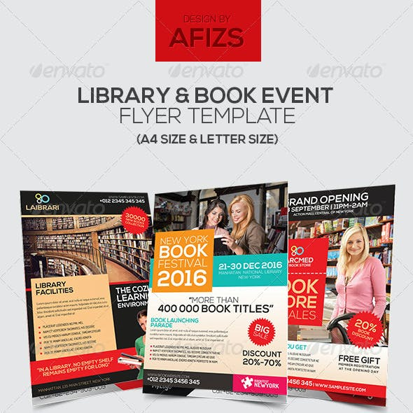 Library & Book Event Flyer