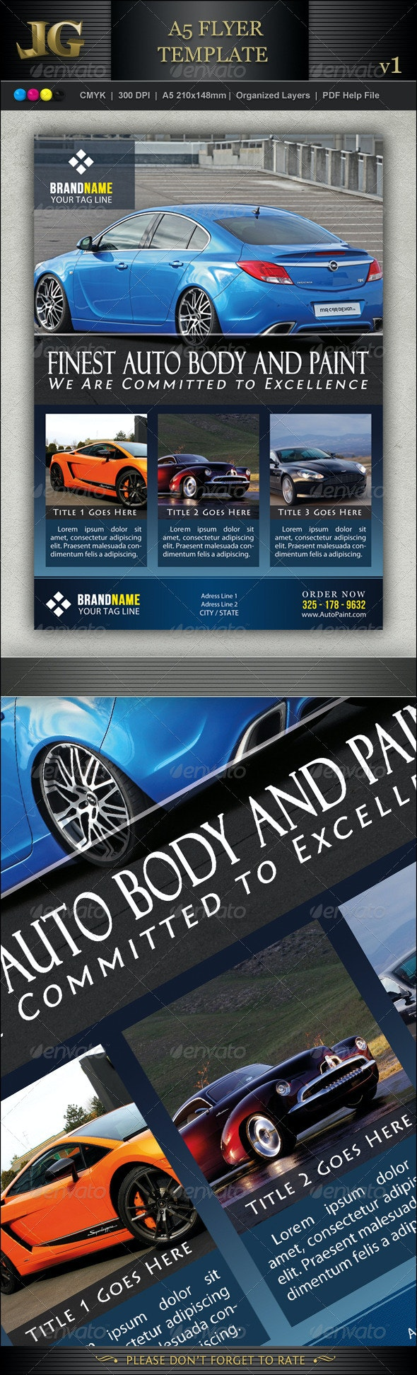 A5 Flyer Template V1 - Corporate Flyers