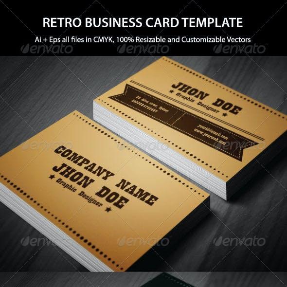 Exclusive Retro Business Card
