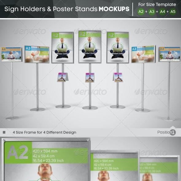Sign Holder & Poster Stands Mockups