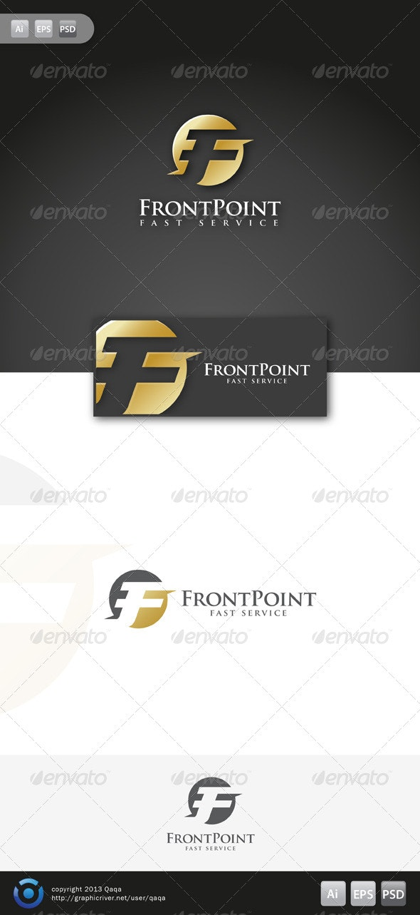 F - Front Point Logo - Letters Logo Templates