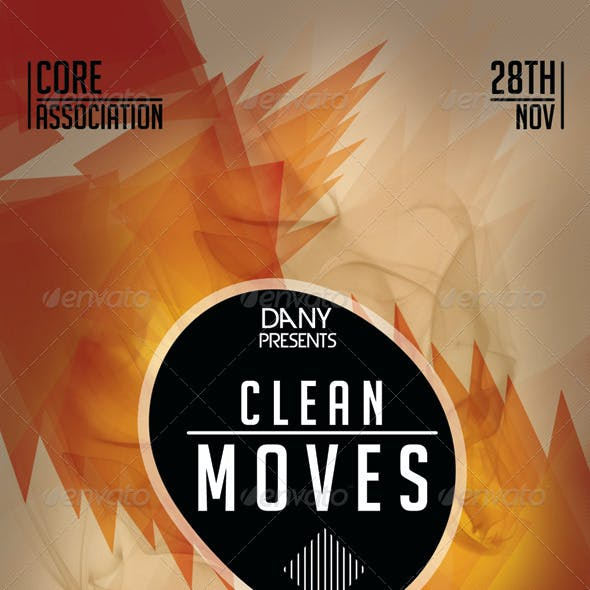 Clean Moves 12 Futuristic Flyer