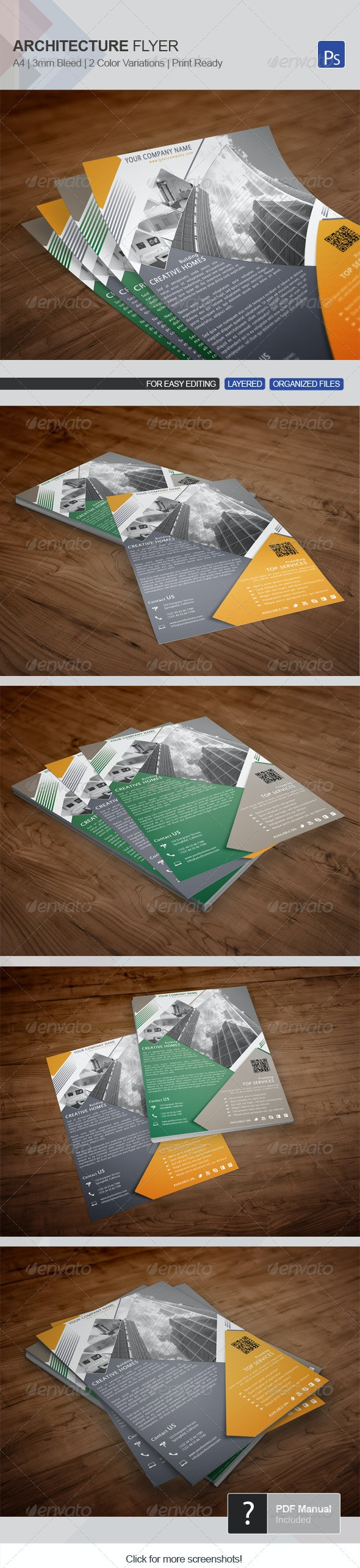 Architecture Flyer Template 09 - Corporate Flyers