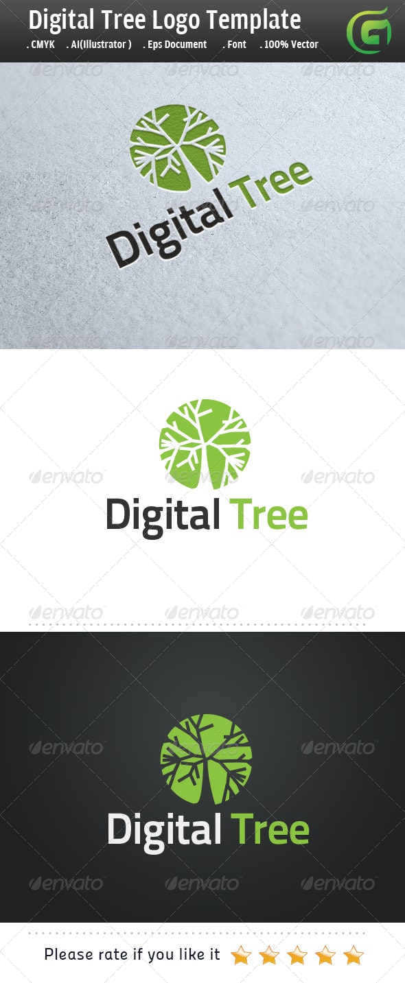 Digital Tree - Symbols Logo Templates