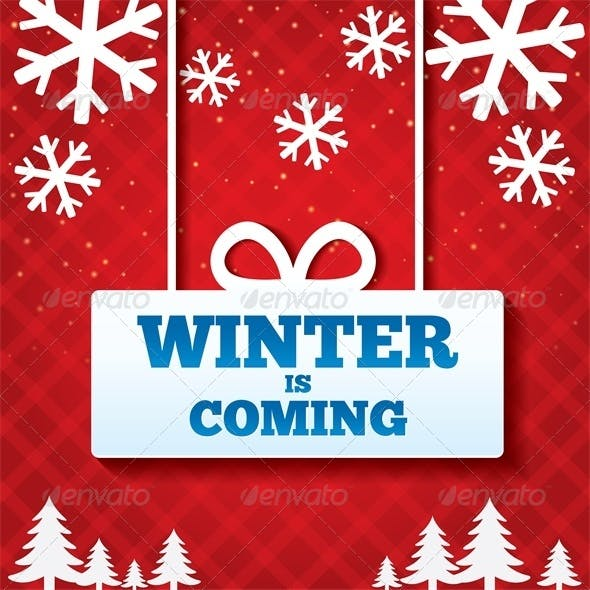 Winter is Coming Sale Background. Merry Christmas